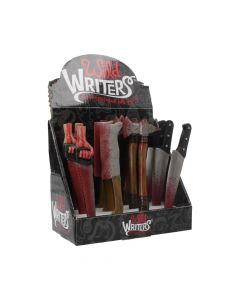 Wild Writer Assorted Weapon Ball point Pens 16cm (Display of 12) Pens