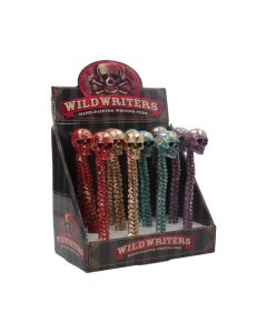 Wild Writer Skull Pens 16cm (Display of 12) Skulls Skulls Value Range