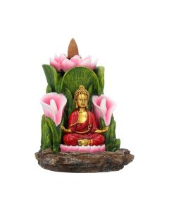 Enlightened Sanctuary Backflow Incense Burner 14cm Buddhas and Spirituality Popular Products - Light Value Range