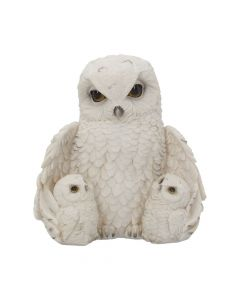 Feathered Family Beautiful Snowy Owl Trio 21.5cm Mother's Day
