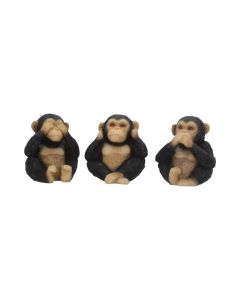 Three Wise Chimps 8cm All Animals