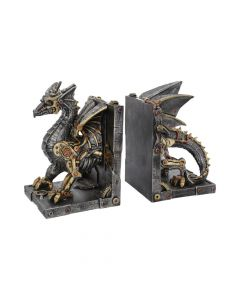 Dracus Machina Bookends 27cm Dragons Steampunk Dragons Value Range