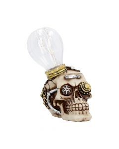 Bright Idea Light up Steampunk Skull Ornament 17cm Steampunk
