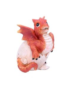 Ruby Hatchling Dragon Egg Ornament Easter