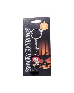 Spooky Keyrings Witch 5.5cm (Pack of 12) Witchcraft & Wiccan Witchcraft & Wiccan Value Range