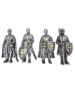 Defend the Realm Magnets (Set of 4) 8.7cm Medieval Magnets Value Range