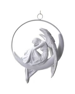 Angels Serenity White Hanging Winged Angel Decoration Angels