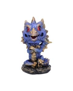 Bobling Blue Metallic Dragon Bobble Head Figurine Realm of Dragons