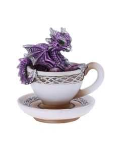 Purple Dracuccino Dragon Teacup Figurine Realm of Dragons