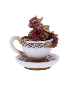 Red Dracuccino Dragon Teacup Figurine Realm of Dragons