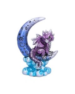 Metallic Purple Crescent Creature Moon Dragon Figurine Realm of Dragons