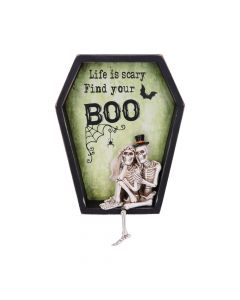 Life is Scary Find Your Boo Skeleton Bride and Groom Wall Plaque Skeletons