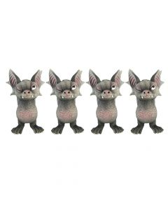 Bite 9.1cm (Set of 4) Bats Figurines Small (Under 15cm) Value Range