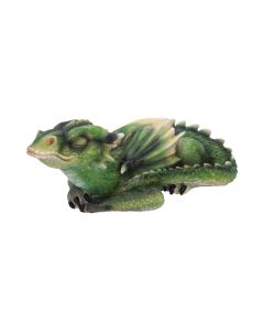 Emerald Dreaming Sleeping Green Dragon Figurine Dragons