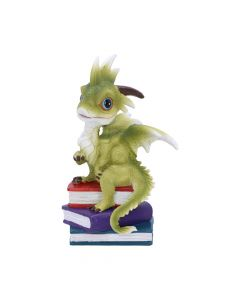Once Upon A Time Green Dragon with Books Figurine Dragons