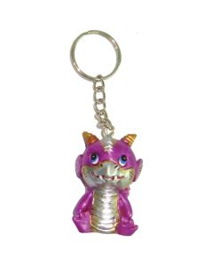Adorable Dragon Keyring - Pink 5.5cm (Pack of 12) Dragons Dragons Value Range