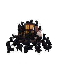 The Witches Litter Display of 36 Black Cat Familiars with a Decorated Stand New Product Launch