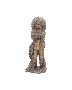 Bronzed Proud Cherokee Native American Chief 30cm Figurines Large (30-50cm)
