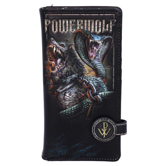 Powerwolf Embossed Purse 18.5cm Band Licenses New in Stock Artist Collections