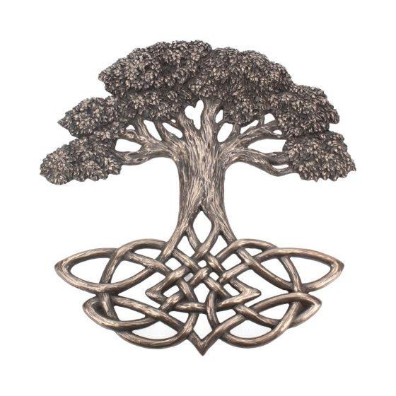 Bronzed Wiccan Tree of Life Wall Plaque Easter