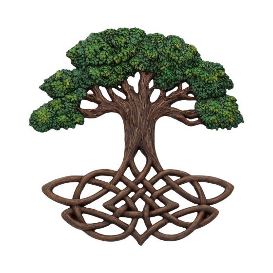 Tree of Life Wall Plaque (Painted) 33cm Witchcraft & Wiccan Easter Premium Range