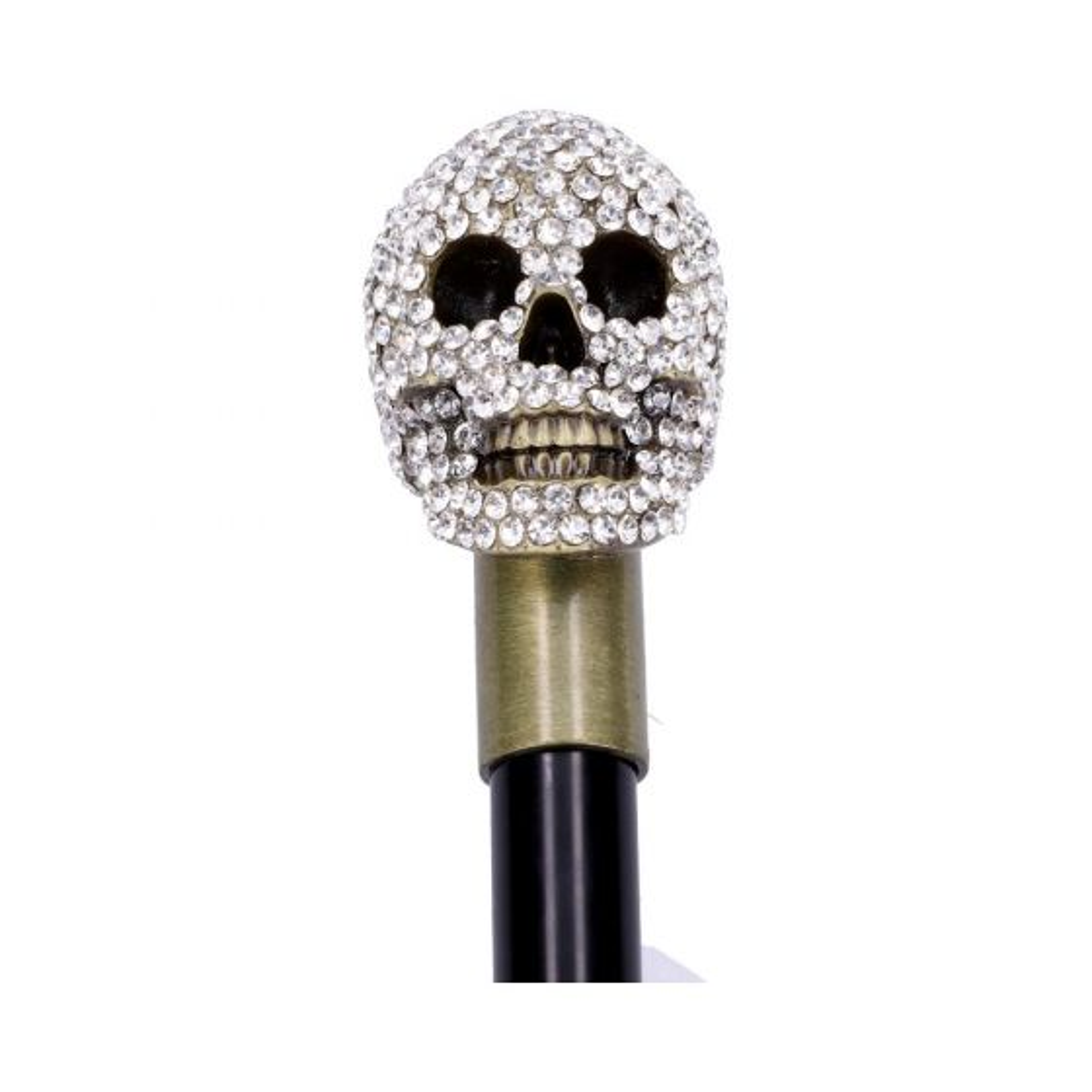 Jewelled Grin Swaggering Cane 95cm Skulls Schädel (Premium)
