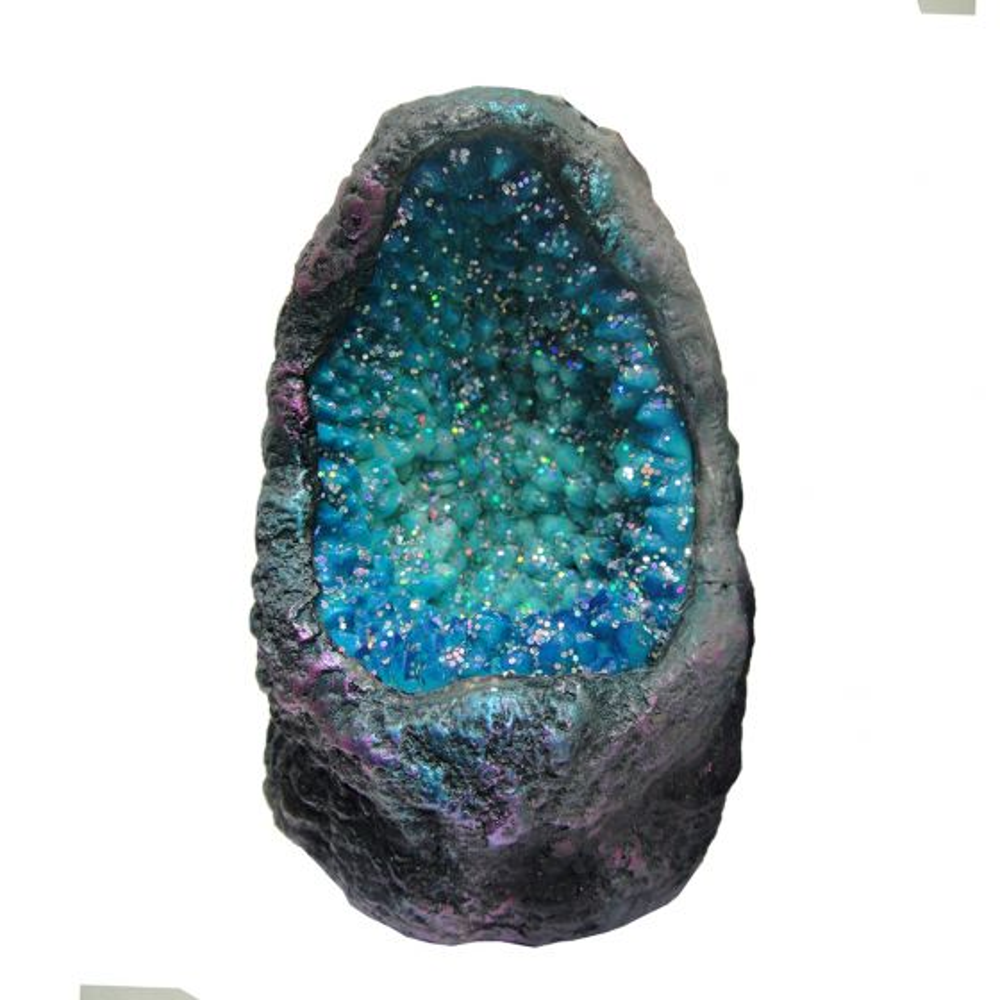 Sapphire Crystal Cavern 10cm Crystal Caverns LED & Glasfaser Value Range