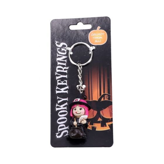 Spooky Keyrings Witch 5.5cm (Pack of 12) Witchcraft & Wiccan Hexerei & Wicca