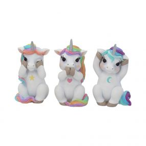 Three Wise Cutiecorns 9.5cm