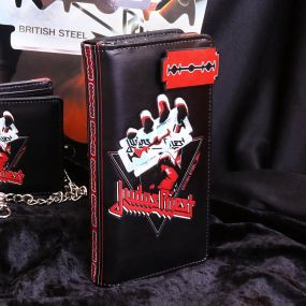 Judas Priest British Steel Embossed Purse 18.5cm