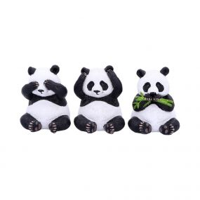 Three Wise Pandas 8.5cm
