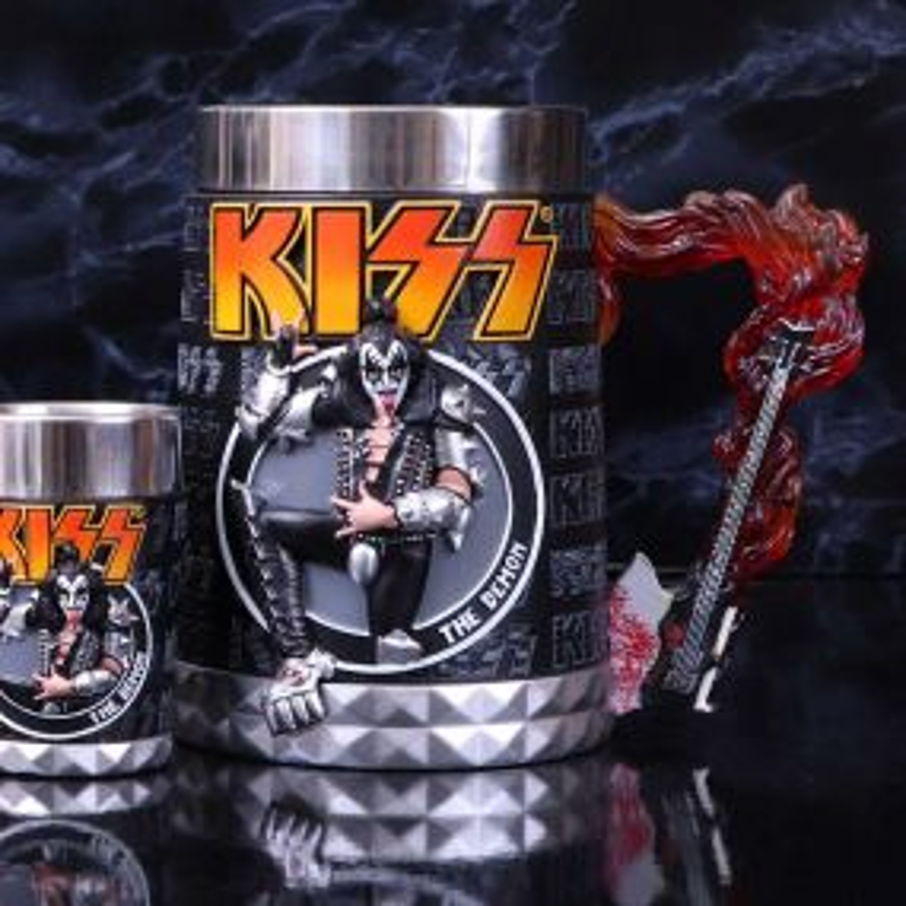KISS Flame Range The Demon Tankard 14.5cm