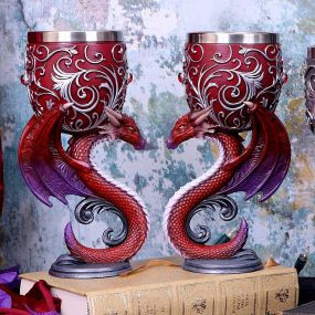 Dragons Devotion Goblets 18.5cm (Set of 2)