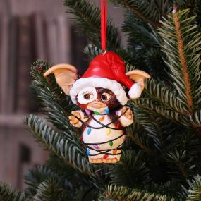 Gremlins Gizmo in Fairy Lights Hanging Ornament