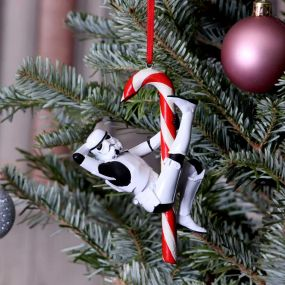 Stormtrooper Candy Cane Hanging Ornament 12cm