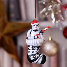 Stormtrooper in Stocking Hanging Ornament 11.5cm