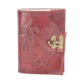 Double Dragon Leather Embossed Journal & Lock