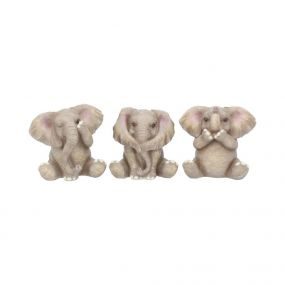 Three Baby Elephants 8cm