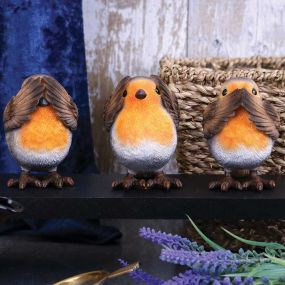 Three Wise Robins 8cm