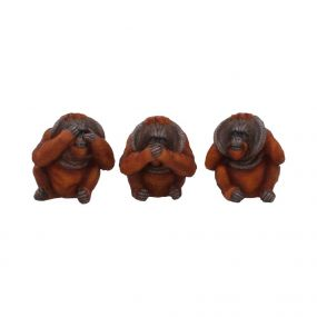 Three Wise Orangutans 10.5cm