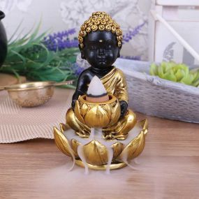 Baby Buddha Backflow Incense Burner 10.3cm