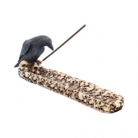 Raven Skull Incense Holder 25cm