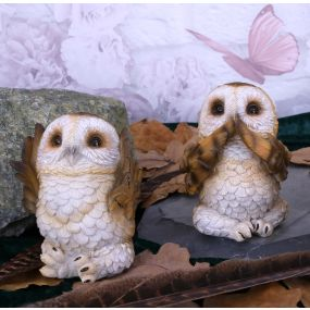 Three Wise Brown Owls 7.5cm