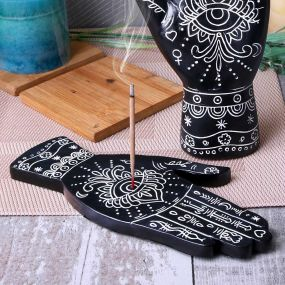Hamsa Hand Incense Burner (set of 4) 20cm