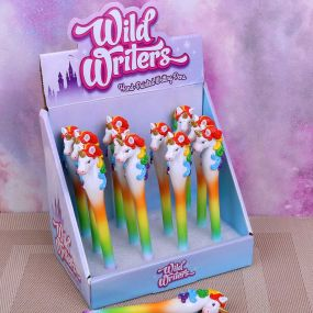 Wild Writers Rainbow Unicorn Pens (Display of 12)