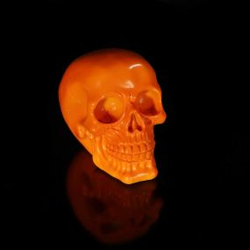 Psychedelic Skull Orange 15.5cm