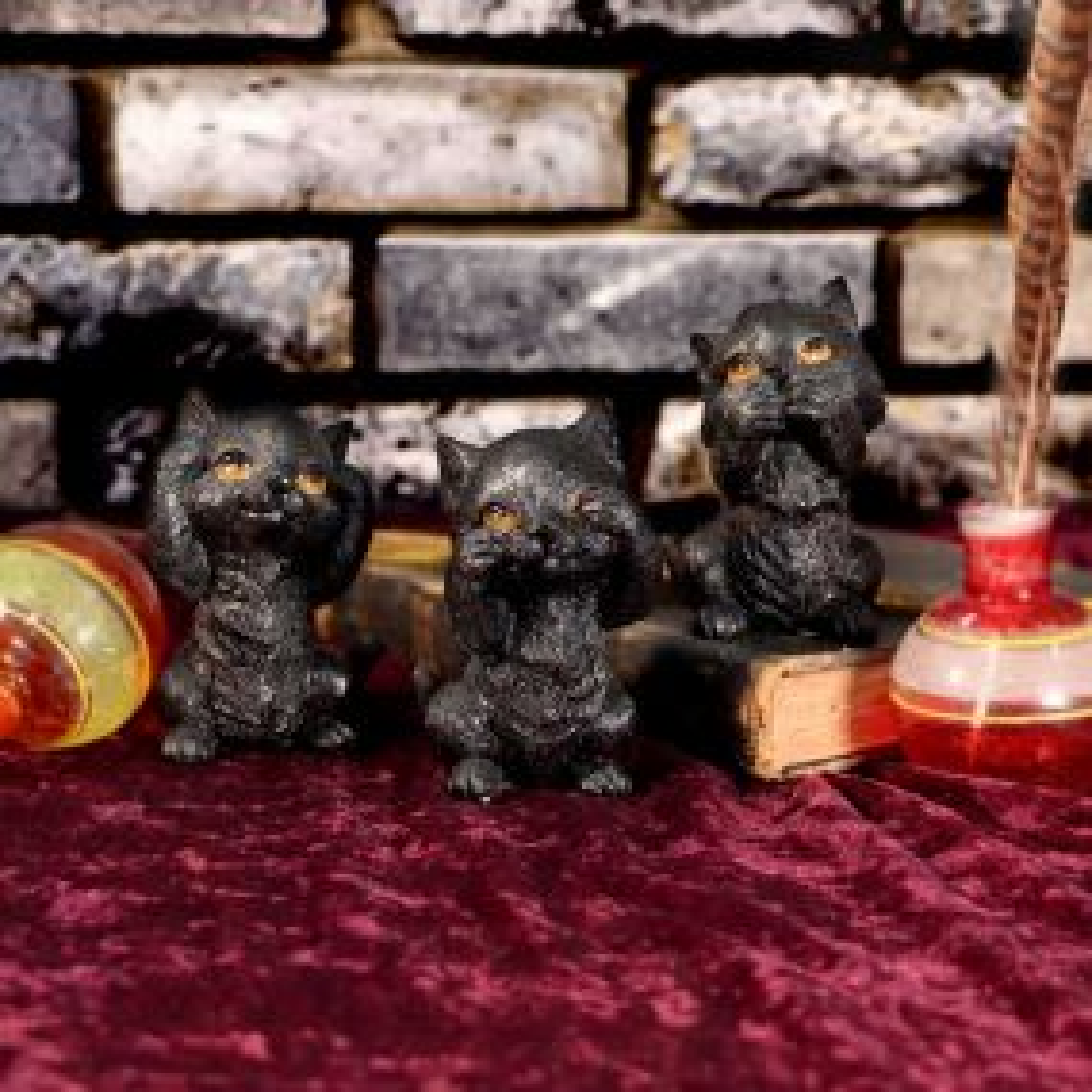 Three Wise Kitties 8.8cm