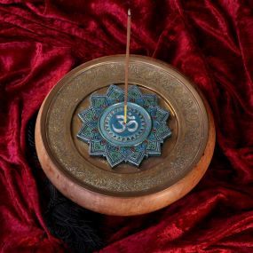 Om Sacred Sound Incense Burner 13.5cm (Set of 4)