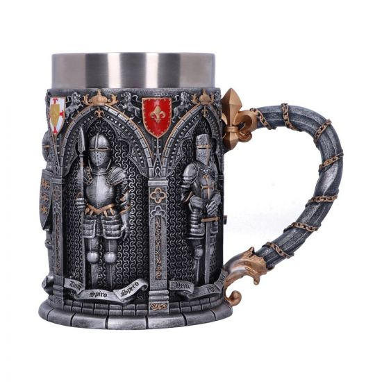 The Vow English Armoured Knight Latin Oath Tankard Popular Products - Light