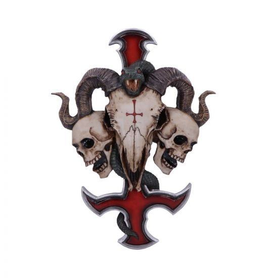 Devils Cross Wall Plaque (JR) 30.5cm Animal Skulls New Products Artist Collections